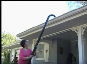 Anyone can use a Gutter Clutter Buster!